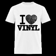 T-Shirts ~ Men's T-Shirt ~ I heart Vinyl