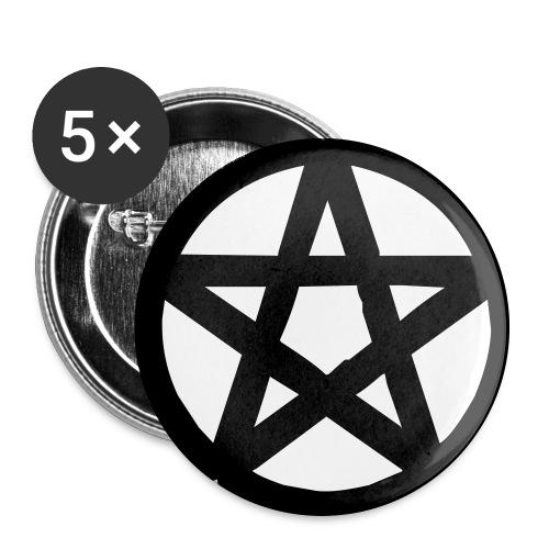 Pentagram Badge - Large Buttons