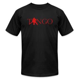 Men's Slim-Fit T (Blk/Red) - Men's Fine Jersey T-Shirt