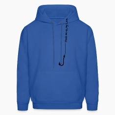 Royal blue fish hook (1c) Hoodies
