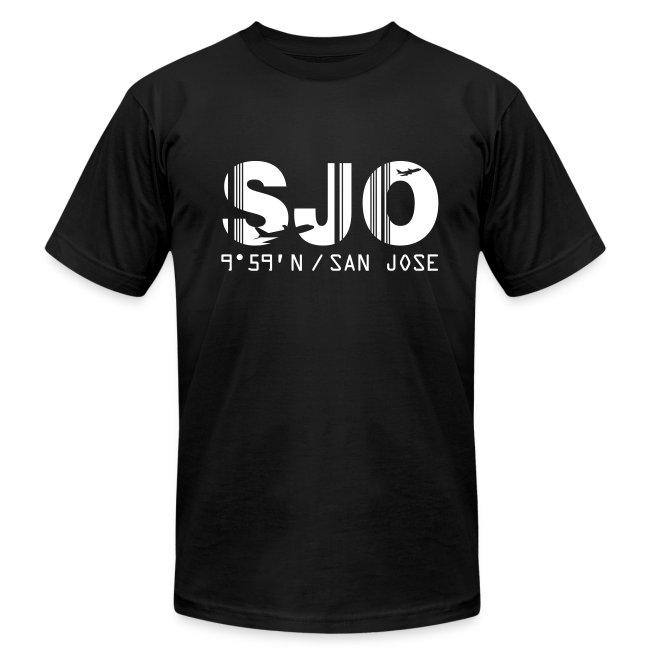 San Jose airport code Costa Rica SJO black men's t-shirt