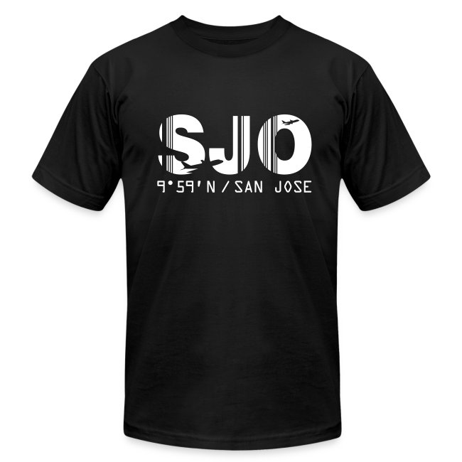 San Jose airport code Costa Rica SJO black men's t-shirt