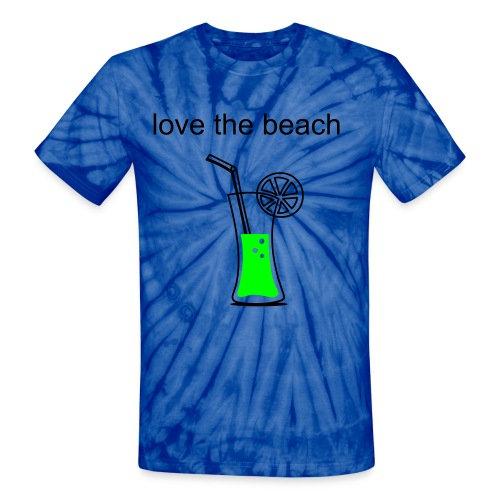 Beach Design - Unisex Tie Dye T-Shirt