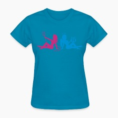 Light blue Angel Devil Women's T-Shirts