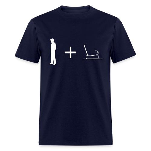 Man + Page (on Dark Choice) - Men's T-Shirt