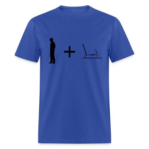 Man + Page (on Light Choice) - Men's T-Shirt