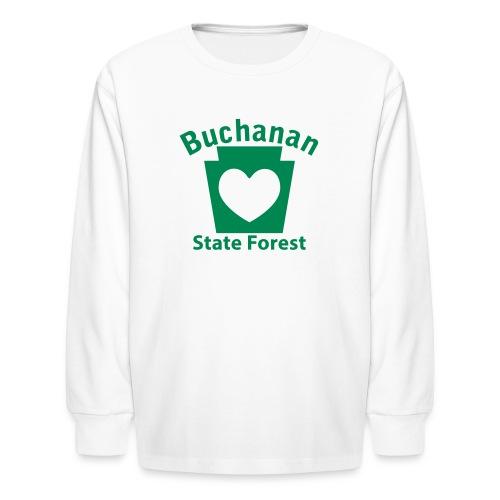 Buchanan State Forest Keystone Heart - Kids' Long Sleeve T-Shirt