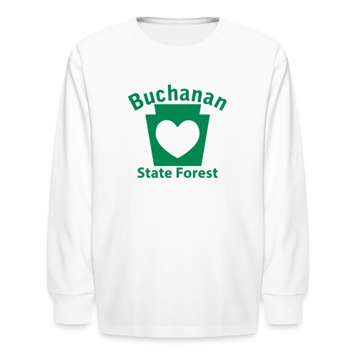 Buchanan State Forest Keystone Heart - Kids' Long Sleeve T-Shirt