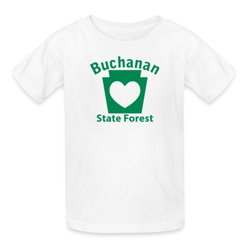 Buchanan State Forest Keystone Heart - Kids' T-Shirt