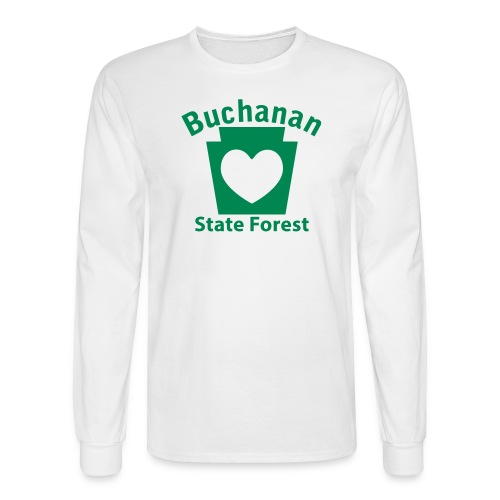 Buchanan State Forest Keystone Heart - Men's Long Sleeve T-Shirt