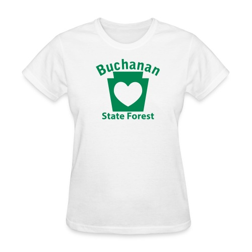 Buchanan State Forest Keystone Heart - Women's T-Shirt