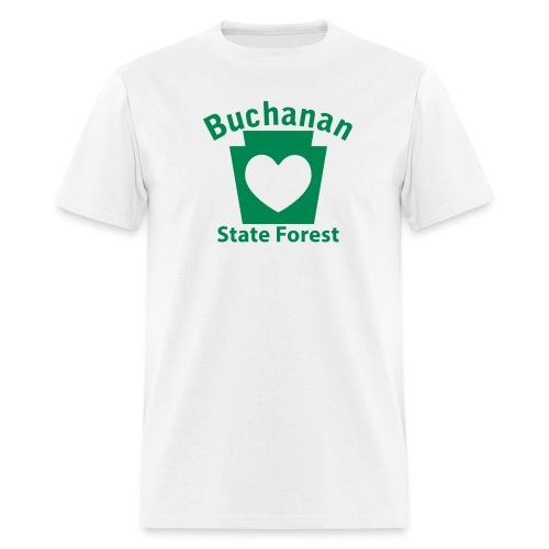 Buchanan State Forest Keystone Heart - Men's T-Shirt