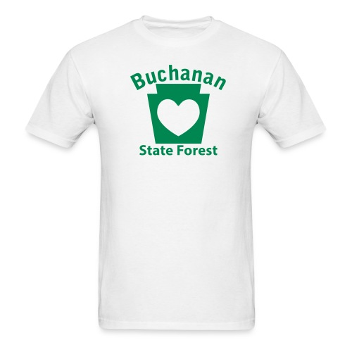 Buchanan State Forest Keystone Heart - Men's T-Shirt