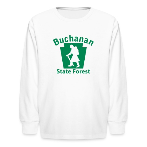 Buchanan State Forest Keystone Hiker (female) - Kids' Long Sleeve T-Shirt