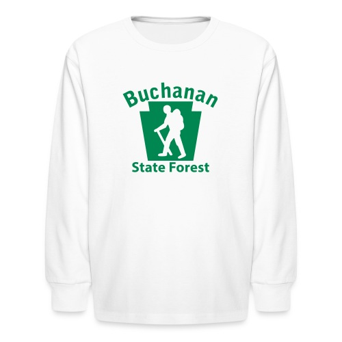 Buchanan State Forest Keystone Hiker (male) - Kids' Long Sleeve T-Shirt