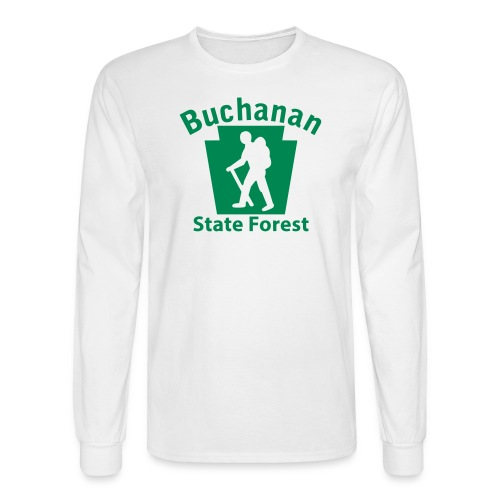 Buchanan State Forest Keystone Hiker (male) - Men's Long Sleeve T-Shirt