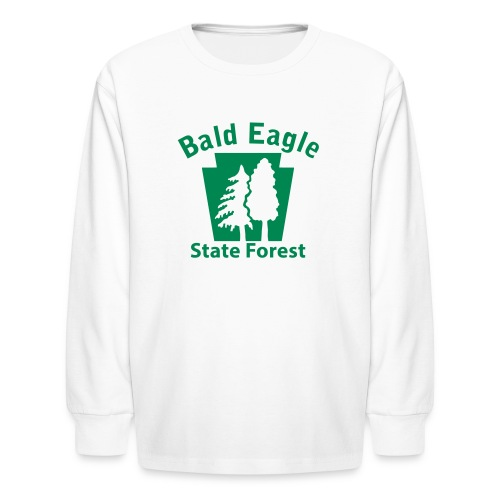 Bald Eagle State Forest Keystone w/Trees - Kids' Long Sleeve T-Shirt