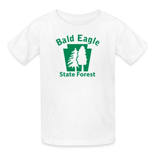 Bald Eagle State Forest Keystone w/Trees - Kids' T-Shirt