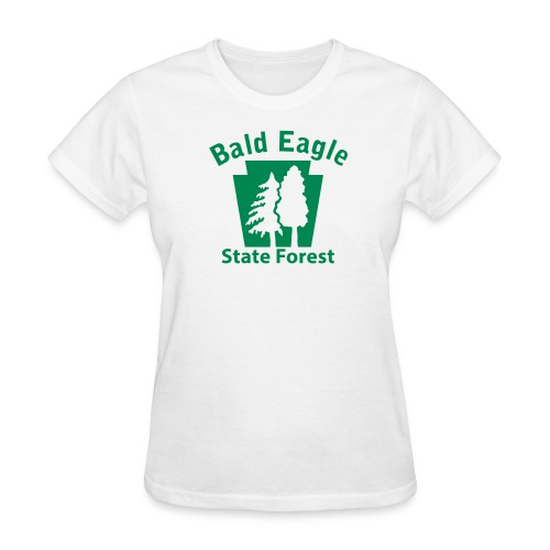 Bald Eagle State Forest Keystone w/Trees - Women's T-Shirt