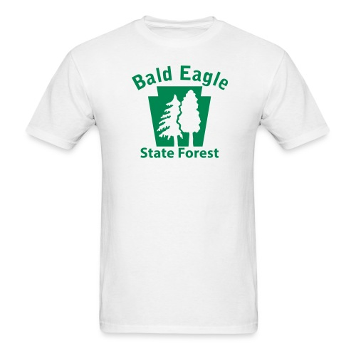 Bald Eagle State Forest Keystone w/Trees - Men's T-Shirt