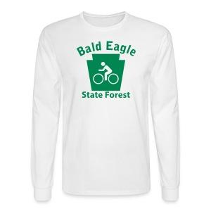 Bald Eagle State Forest Keystone Biker - Men's Long Sleeve T-Shirt