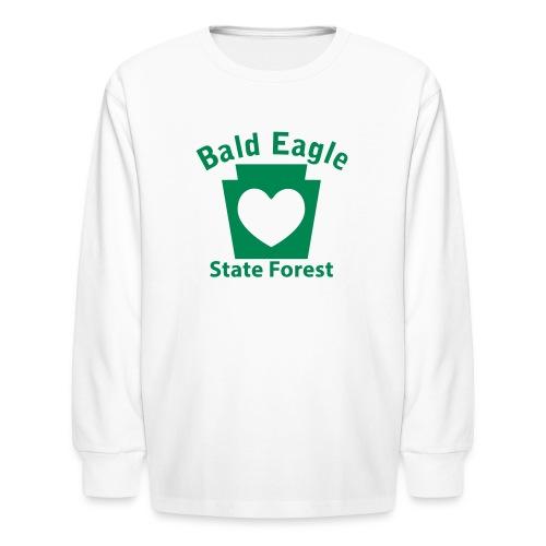 Bald Eagle State Forest Keystone Heart - Kids' Long Sleeve T-Shirt