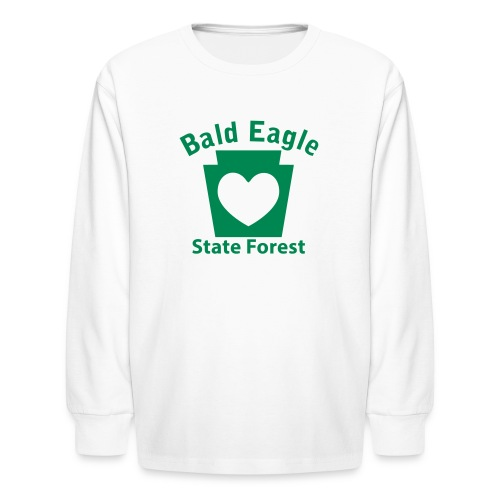 Bald Eagle State Forest Keystone Heart - Kids' Long Sleeve T-Shirt