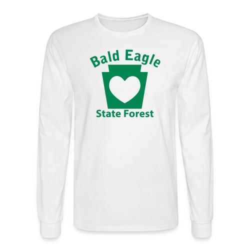 Bald Eagle State Forest Keystone Heart - Men's Long Sleeve T-Shirt