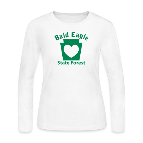 Bald Eagle State Forest Keystone Heart - Women's Long Sleeve Jersey T-Shirt