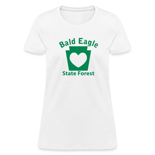 Bald Eagle State Forest Keystone Heart - Women's T-Shirt