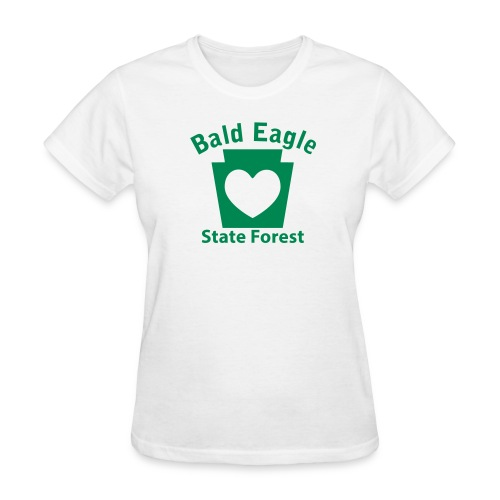 Bald Eagle State Forest Keystone Heart - Women's T-Shirt