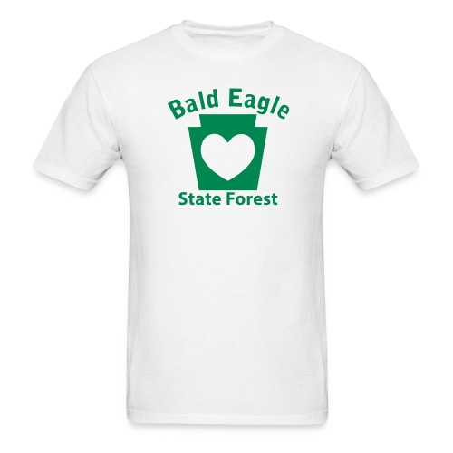 Bald Eagle State Forest Keystone Heart - Men's T-Shirt