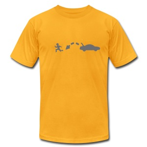 yellow escape tee (men) - Men's T-Shirt by American Apparel