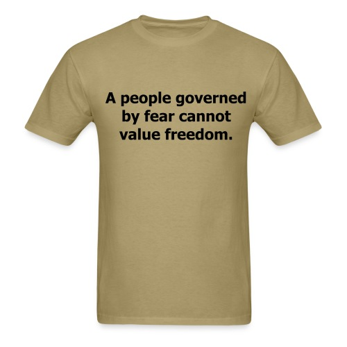 A people governed... - Men's T-Shirt