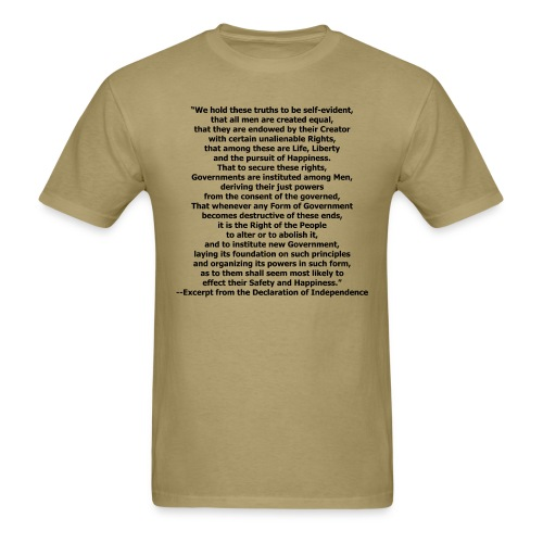 Declaration of Independence - Men's T-Shirt