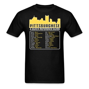 Black pittsburghese T-Shirts - Men's T-Shirt
