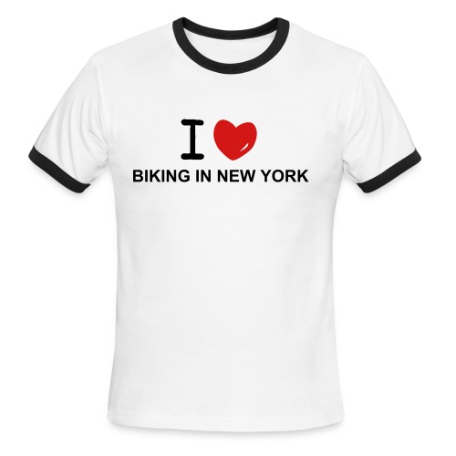 NEW YORK BIKER MUSCLE TEE - Men's Ringer T-Shirt