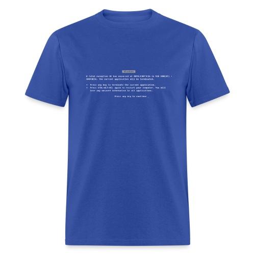 Blue Screen of Death - Men's T-Shirt