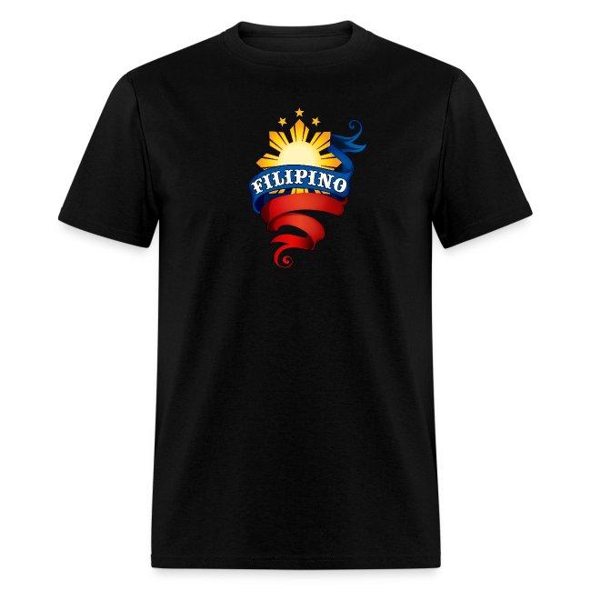 "Men's Definitely Filipino Shirt with ""Definitely Filipino"" printed on back"
