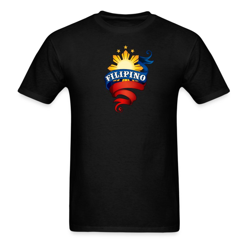 Men's Definitely Filipino Shirt with Definitely Filipino printed on back - Men's T-Shirt