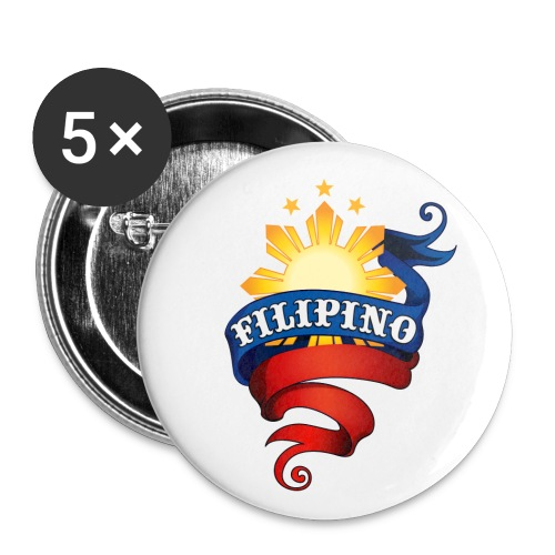 Filipino Promotional Button (WHITE-BA) - Buttons small 1'' (5-pack)