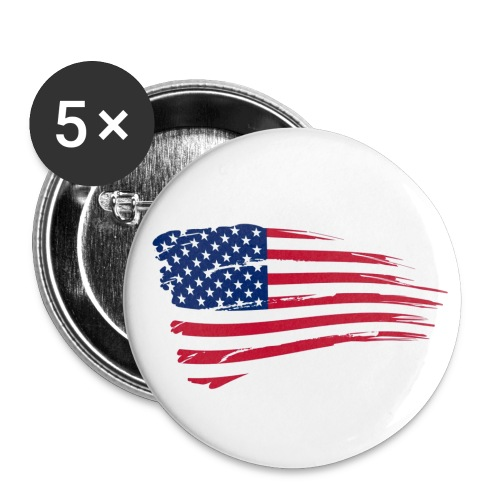 American Flag Buttons - Small Buttons