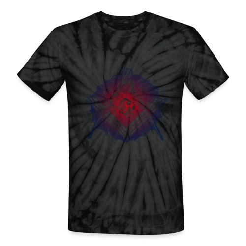 Masonic Tie Dye Two - Unisex Tie Dye T-Shirt