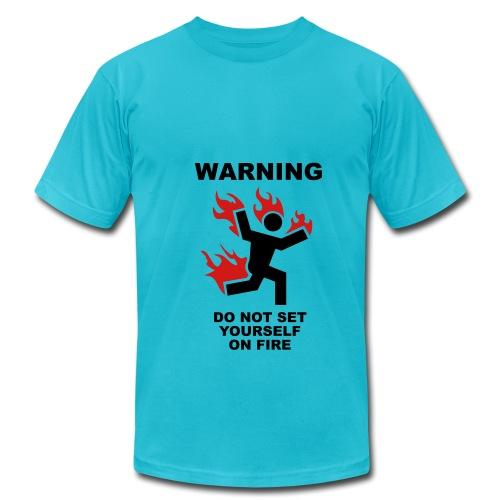 Warning explosive laughter - Men's  Jersey T-Shirt