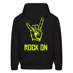 mens rock on hoodie (design on back) - Men's Hoodie