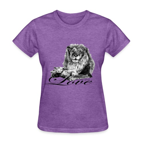 Lion and Lamb Love - Women's T-Shirt