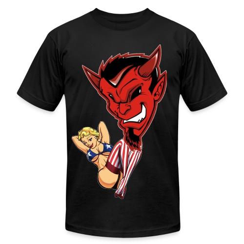 lucky devil - Men's Fine Jersey T-Shirt