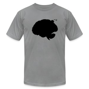 Brainbomb - Black on slate - Men's T-Shirt by American Apparel