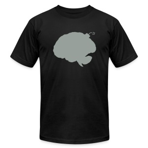 Brainbomb - Gray on black - Men's T-Shirt by American Apparel