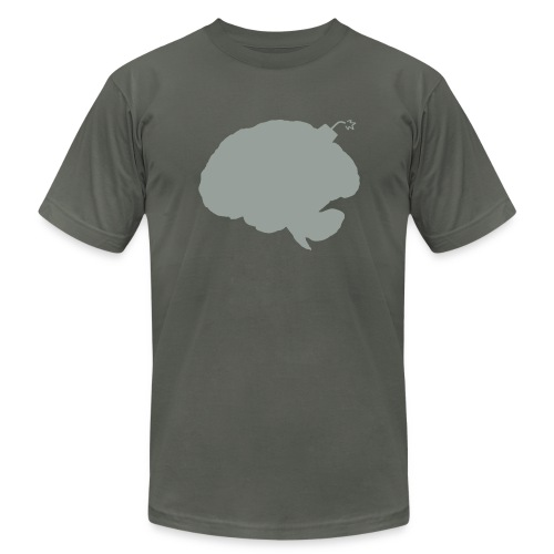 Brainbomb - Gray on Asphalt - Men's T-Shirt by American Apparel